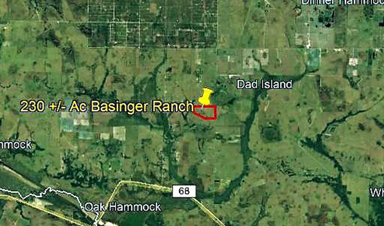 Basinger Ranch is located north of Okeechobee City